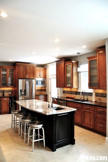 2906 Xoan Đào Tủ bếp gỗ xoan đào – TBB502