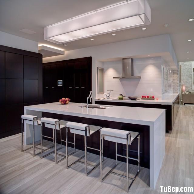 modern kitchen cabinets 14 Tủ bếp gỗ Laminate màu nâu đậm chữ L TBT0568