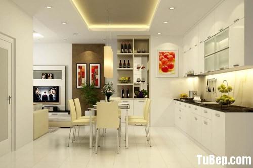 acrylic Tủ bếp gỗ Acrylic màu trắng chữ I TBT0487