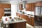 Tủ bếp gỗ Sồi Mỹ – TBB501