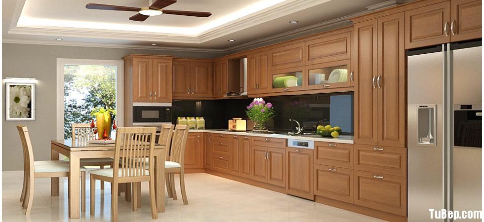 0508 2 Tủ bếp gỗ tự nhiên Sồi Nga – TBB484