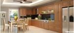 Tủ bếp gỗ tự nhiên Sồi Nga – TBB484