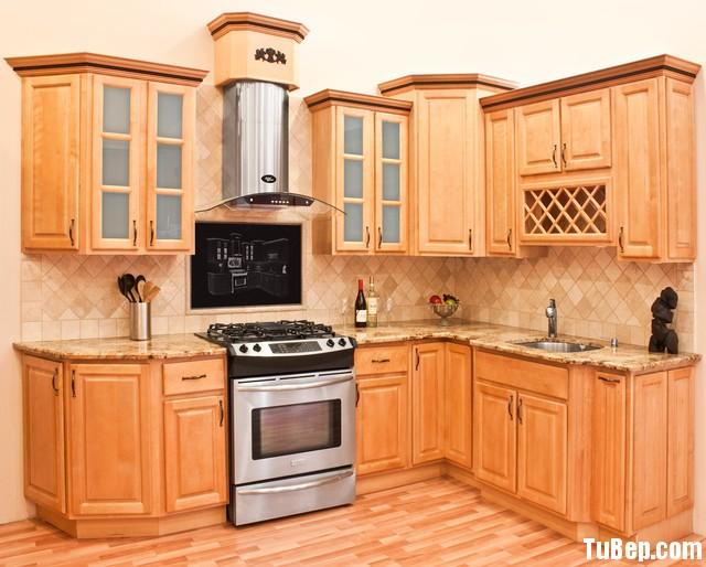traditional kitchen cabinets 31 Tủ bếp gỗ Xoan Đào tự nhiên chữ L TBT0587