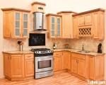Tủ bếp gỗ Xoan Đào tự nhiên chữ L TBT0587