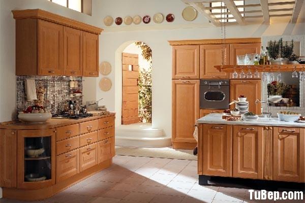 tu bep go tu nhien 10 Tủ bếp gỗ tự nhiên có đảo chữ L TBT0578