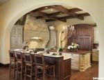 Tủ bếp gỗ tự nhiên có đảo – TBB747