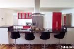 Tủ bếp Acrylic có đảo – TBB668