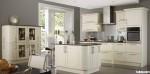 Tủ bếp gỗ xoan đào sơn men màu trắng ngà – TBB795