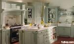 Tủ bếp gỗ Sồi sơn men chữ L TBT0672