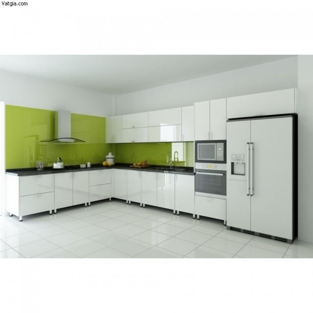 eaz1381716916 Tủ bếp Acrylic màu trắng chữ L TBT0666