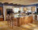 Tủ bếp gỗ Sồi Mỹ có đảo – TBB691