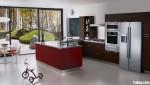 Tủ bếp gỗ Laminate có đảo -TBB692