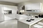 Tủ bếp Acrylic màu trắng chữ U – TBB674