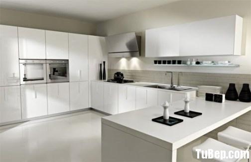 659 b129 Tủ bếp Acrylic màu trắng chữ U TBT0664