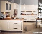 Tủ bếp Acrylic màu trắng chữ U – TBB741