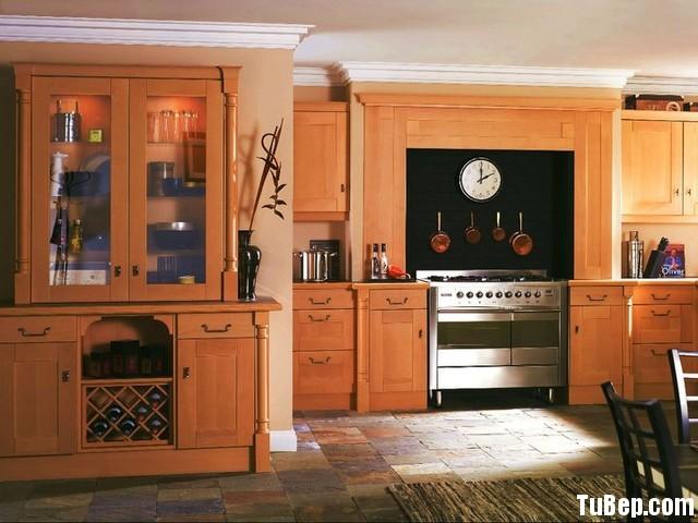 Verneer xoan đào Tủ bếp gỗ Xoan đào Veneer chữ I TBT0650