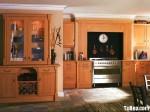 Tủ bếp gỗ Xoan đào Veneer chữ I TBT0650