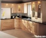 Tủ bếp gỗ Sồi tự nhiên chữ L TBT0712