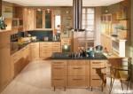 Tủ bếp gỗ Dỗi có đảo – TBB669
