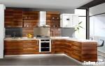 Tủ bếp Laminate màu vân gỗ chữ L TBT0751