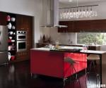 Tủ bếp Acrylic có đảo – TBB746