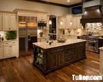 Tủ bếp gỗ tự nhiên mang phong cách cổ điển – TBB684