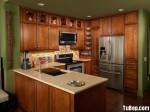 Tủ bếp gỗ xoan đào chữ U – TBB690