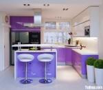 Tủ bếp tự nhiên- công nghiệp – TBN733