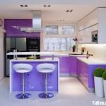 Tủ bếp tự nhiên  công nghiệp – TBN733
