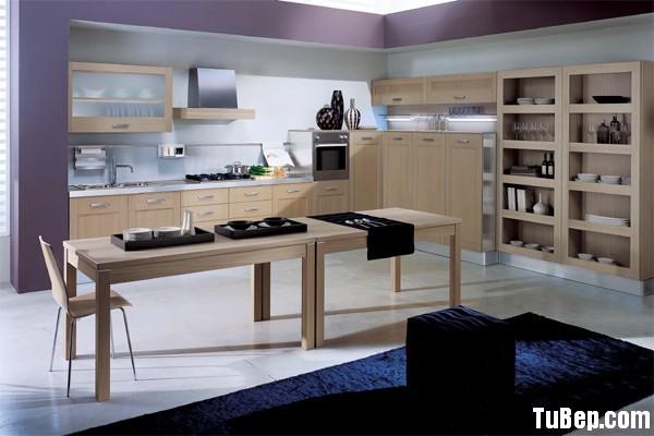modern kitchen cabinets 4 Tủ bếp gỗ Laminate chữ L màu vân gỗ nhạt    TBB667