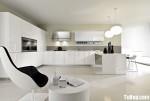 Tủ bếp gỗ Acrylic chữ L màu trắng – TBB729