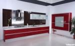 Tủ bếp Acrylic đỏ trắng – TBB830