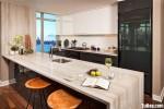 Tủ bếp gỗ Acrylic có đảo – TBB0849