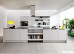 Tủ bếp Acrylic màu trắng chữ L TBT0835