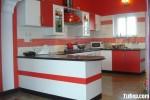 Tủ bếp Laminate trắng đỏ – TBB0846