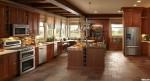 Tủ bếp gỗ căm xe có đảo – TBB0821