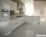 Tủ bếp Acrylic màu trắng chữ L – TBB0879