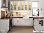 Tủ bếp gỗ tự nhiên sơn men trắng chữ U – TBB1022