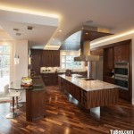 Tủ bếp tự nhiên + công nghiệp – TBN1135