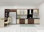 Tủ bếp Acrylic chữ L – TBB1035