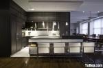 Tủ bếp laminate chữ L, có bàn đảo – TBB 1149