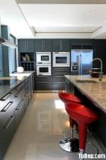 Tủ bếp Laminate thanh lịch với tông xám – TBN1746