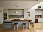 Tủ bếp Melamin đơn giản kèm đảo – TBN1960