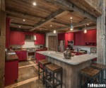 Tủ bếp Sồi phong cách với kết cấu độc đáo – TBN1976