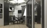 Những mẫu phòng ăn đẹp với gam màu tối