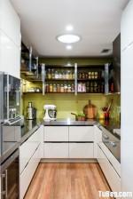 Tủ bếp Acrylic chữ U tiện dụng – TBN2449