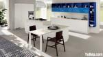 Tủ bếp Acrylic hiện đại chữ I có hệ tủ đứng rời– TBN2597