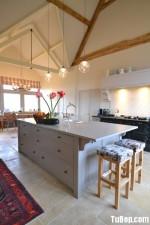 Tủ bếp gỗ công nghiệp dán Laminate trắng – TBB 1617