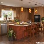 Tủ bếp giáng hương 100% tự nhiên có đảo – TBN2816