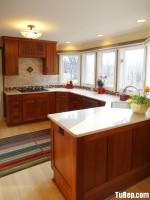 Tủ bếp giáng hương chữ U giản dị – TBN2765